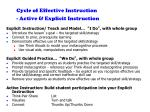 cycle of effective instruction active explicit instruction