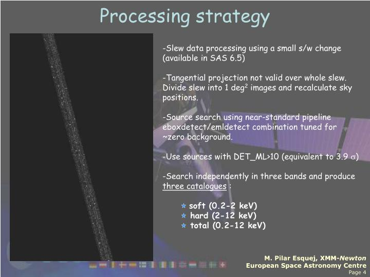 Processing strategy