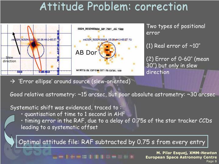 Attitude Problem: correction