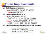 three improvements