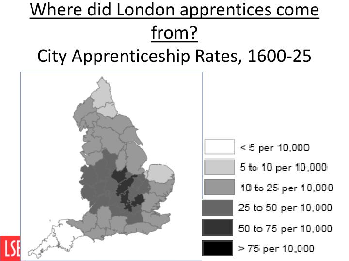 Where did London apprentices come from