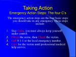 taking action emergency action steps the four c s