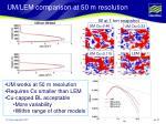 um lem comparison at 50 m resolution