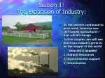 section 1 the expansion of industry1