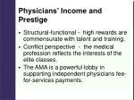 physicians income and prestige