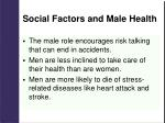 social factors and male health