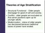 theories of age stratification