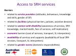 access to srh services