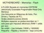 motherboard memorias flash