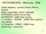 motherboard memorias ram1