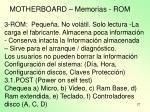 motherboard memorias rom