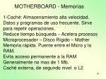 motherboard memorias