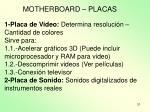 motherboard placas