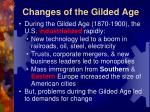 changes of the gilded age