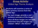 group activity gilded age theme analysis