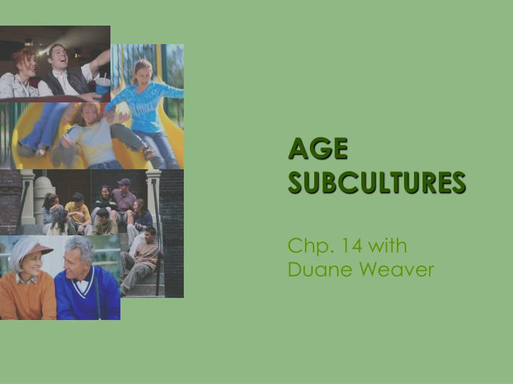 age subcultures n.