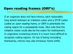 open reading frames orf s