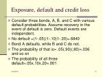 exposure default and credit loss