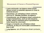 measurement of current or potential exposure