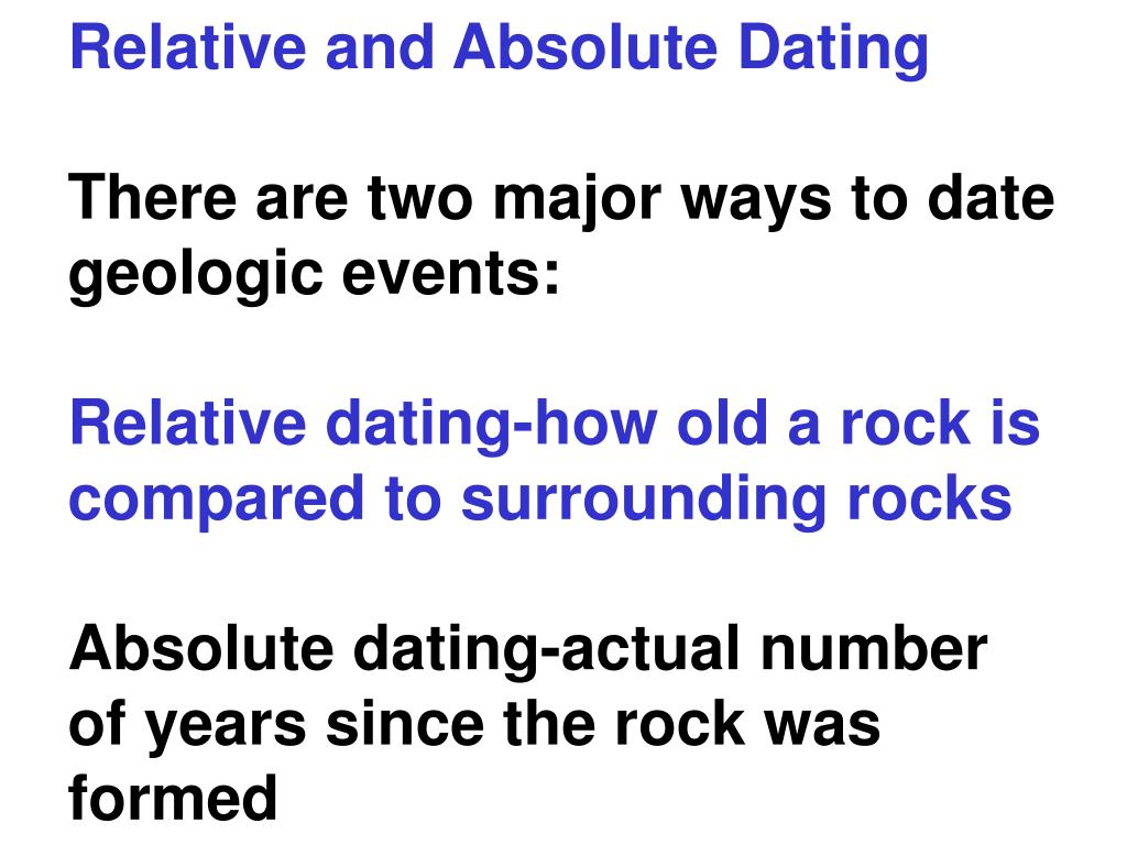 relative dating and absolute dating ppt