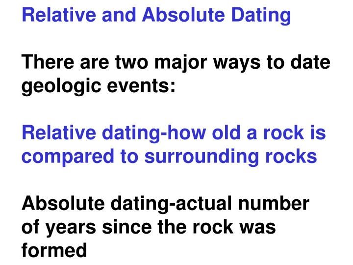 How is absolute dating different than relative dating