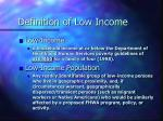 definition of low income