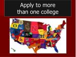 apply to more than one college