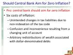 should central bank aim for zero inflation1