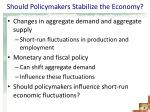 should policymakers stabilize the economy