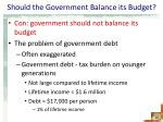 should the government balance its budget2