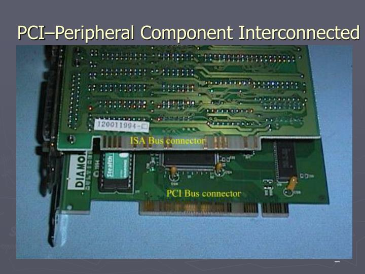 PCI–Peripheral Component Interconnected