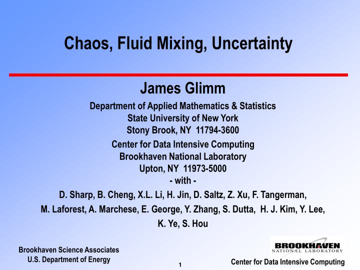chaos fluid mixing uncertainty n.