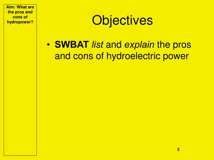 what are the pros and cons of hydroelectric power