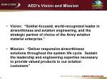 aed s vision and mission