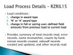 load process details rzril151