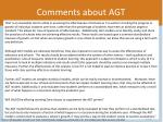 comments about agt1