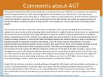 comments about agt2