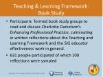teaching learning framework book study