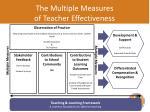 the multiple measures of teacher effectiveness