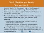 total effectiveness result teacher results1