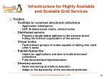 infrastructure for highly available and scalable grid services2