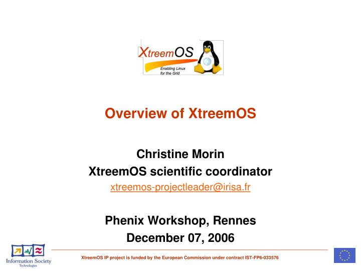 overview of xtreemos n.