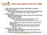 replica management service rms