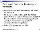 zahlen und fakten zur publikations datenbank