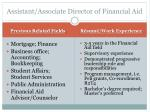 assistant associate director of financial aid