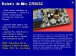 bateria de l tio cr2032