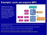 exemplo ouvir um arquivo mp3