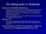 on going work in gridview