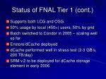 status of fnal tier 1 cont