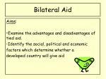 bilateral aid